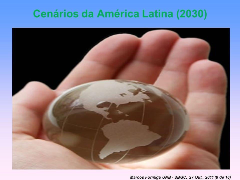 Cenários da América Latina (2030) Marcos Formiga UNB - SBGC, 27 Out., 2011 (8 de 16)