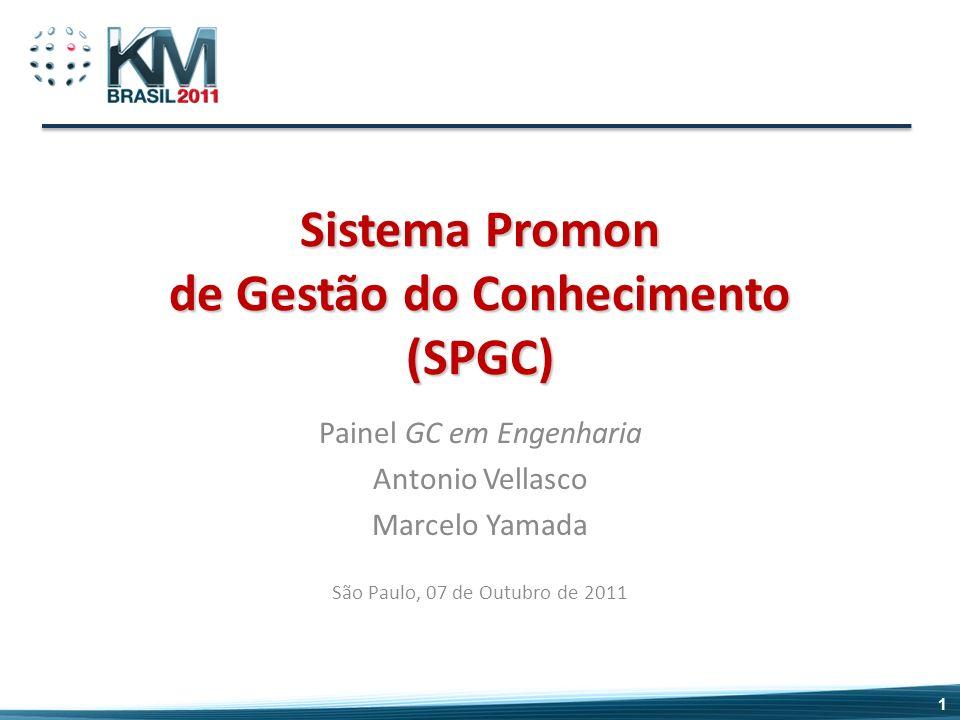 Sistema Promon de Gestão do Conhecimento (SPGC) Painel GC em Engenharia Antonio Vellasco Marcelo Yamada São Paulo, 07 de Outubro de 2011 1