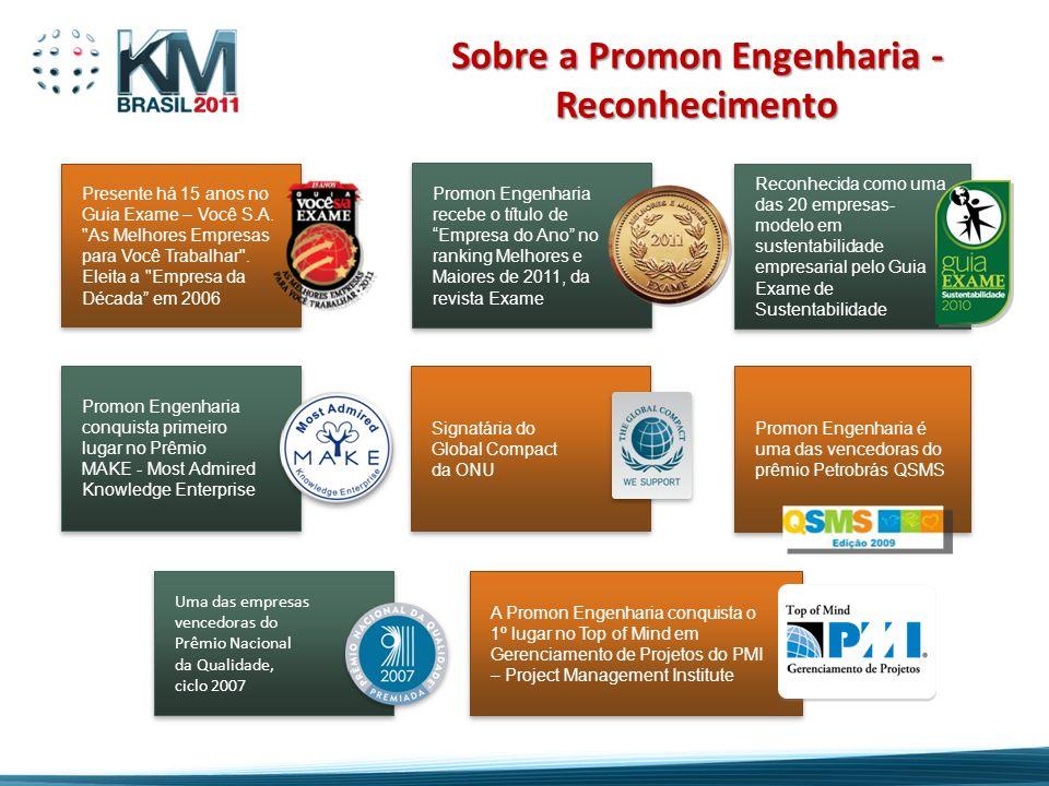 Promon Engenharia conquista primeiro lugar no Prêmio MAKE - Most Admired Knowledge Enterprise Uma das empresas vencedoras do Prêmio Nacional da Qualid