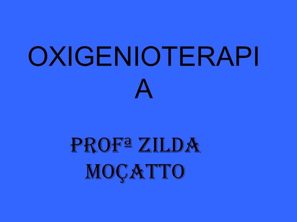 OXIGENIOTERAPI A Profª ZILDA MOÇATTO