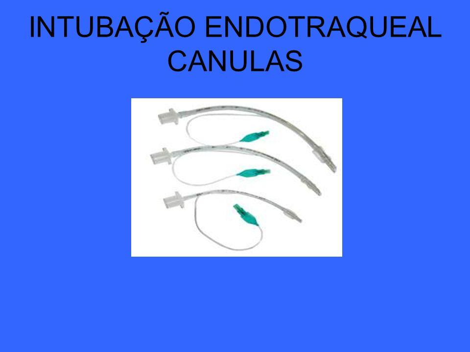 INTUBAÇÃO ENDOTRAQUEAL CANULAS