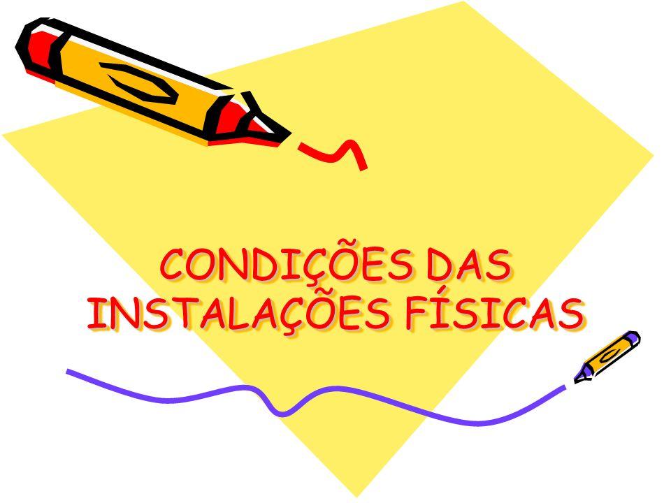 CONDIÇÕES DAS INSTALAÇÕES FÍSICAS