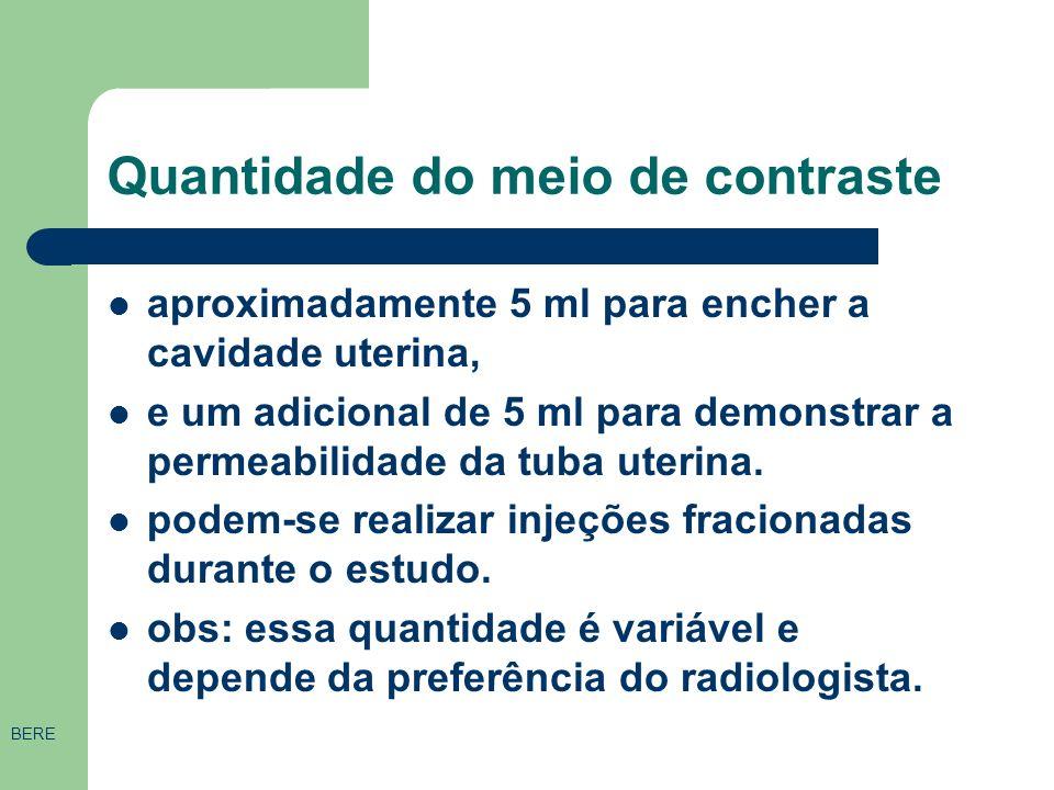 Tipos de contrastes IODADOS Omnipaque 300 ® (iohexol) –frasco ampola de 20 e 50 ml. Contém 46% de iodo. Contraste não-iônico monomérico de baixa osmol