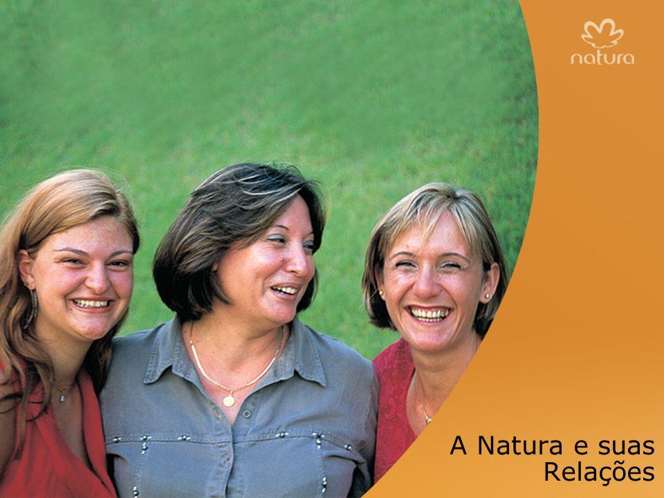 433 mil Consultoras Natura Oportunidades de desenvolvimento Sentindo-se parte de uma comunidade Busca compartilhada do sucesso relações com as Consultoras A Natura e suas Relações