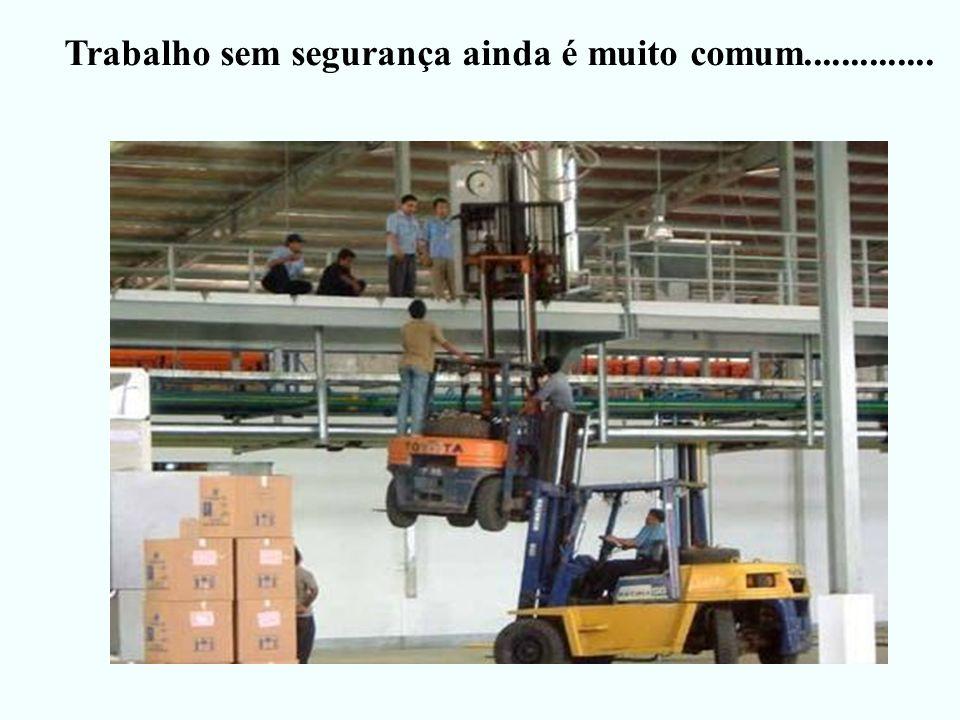 Trabalho sem segurança ainda é muito comum..............