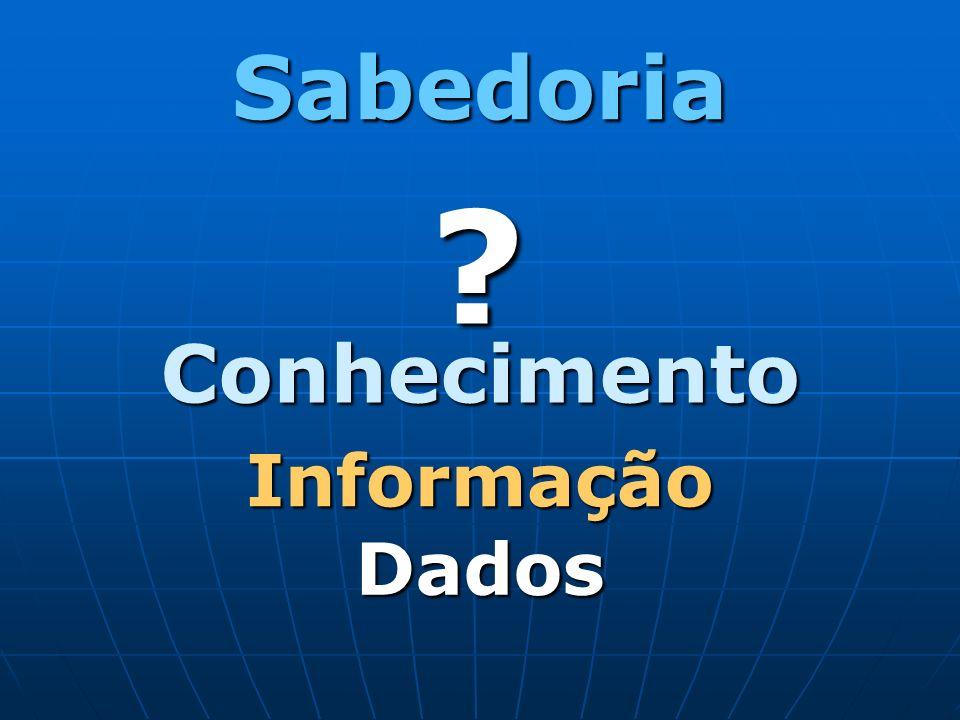 Conhecimento Sabedoria ? Dados Informação