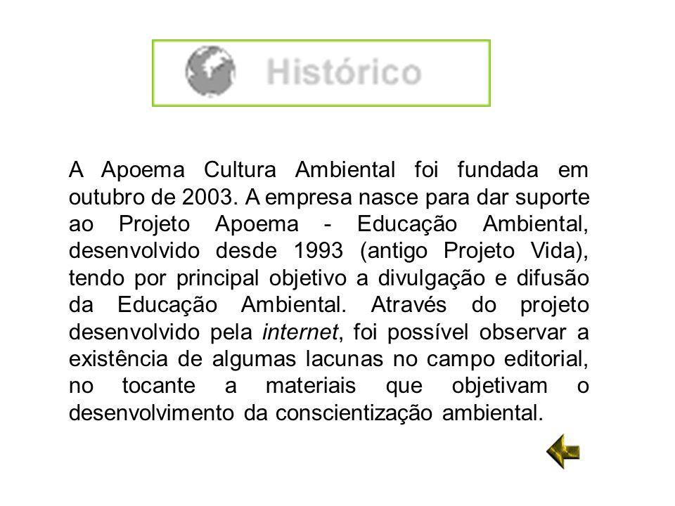 A Apoema Cultura Ambiental foi fundada em outubro de 2003. A empresa nasce para dar suporte ao Projeto Apoema - Educação Ambiental, desenvolvido desde