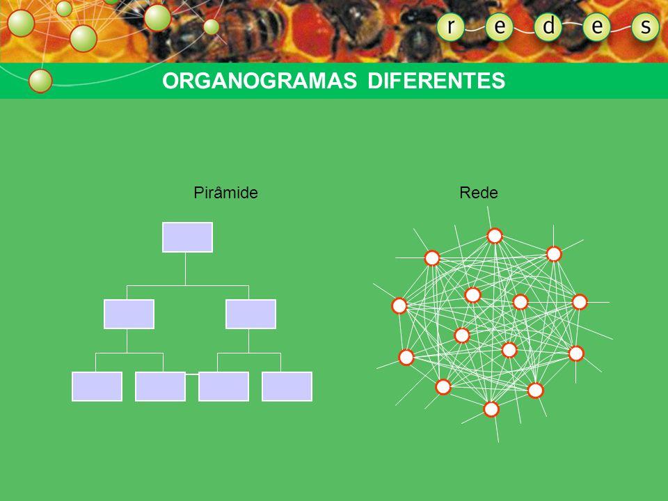 Rede é conjunto de pontos interligados de forma horizontal, isto é, um conjunto de nós e linhas organizado de forma não-hierárquica. REDE = NÃO-HIERAR