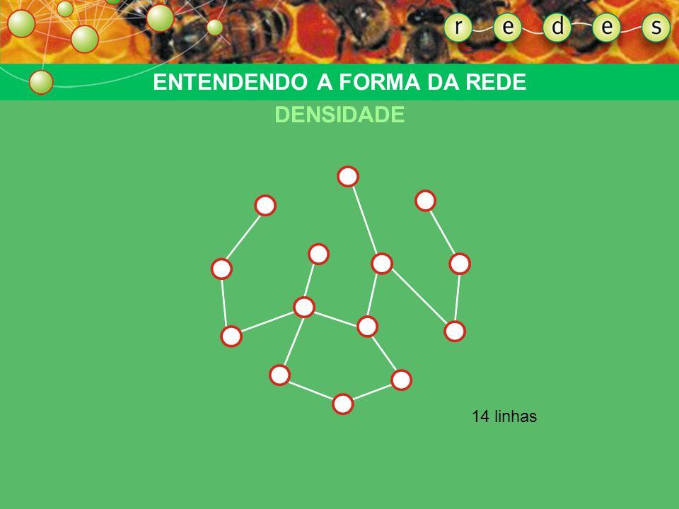 Um par de pontosMuitas linhas ENTENDENDO A FORMA DA REDE A CONECTIVIDADE