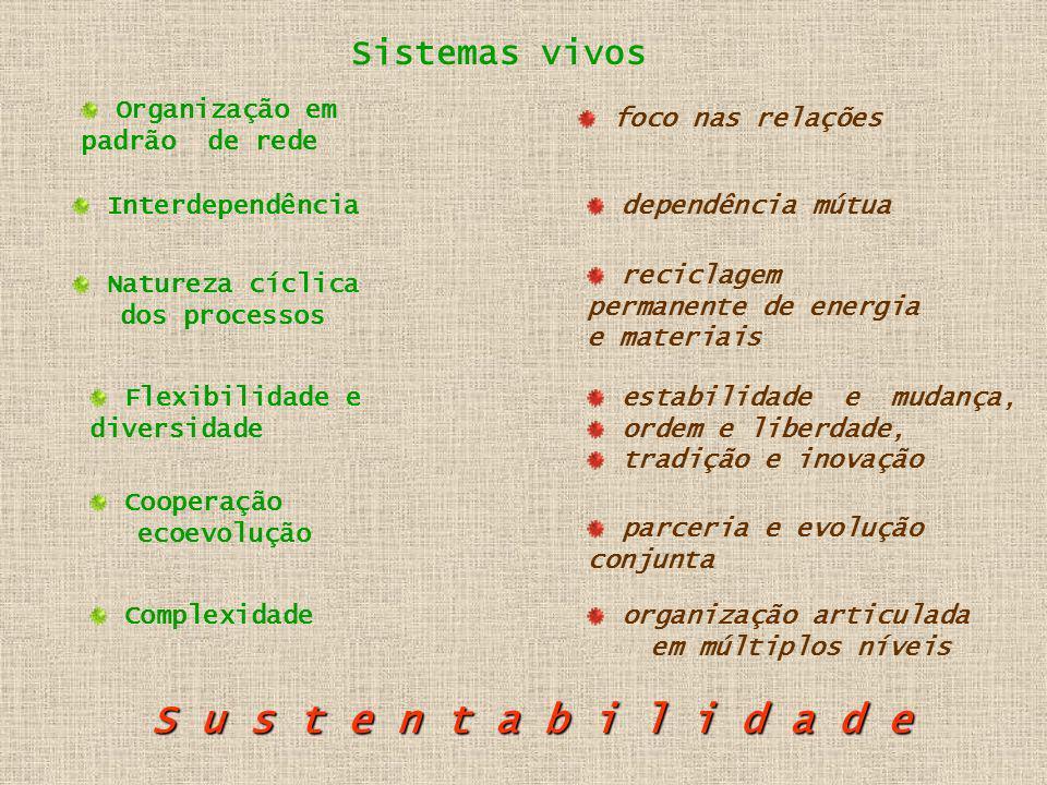 As redes são o padrão básico de organização de todos os sistemas vivos.