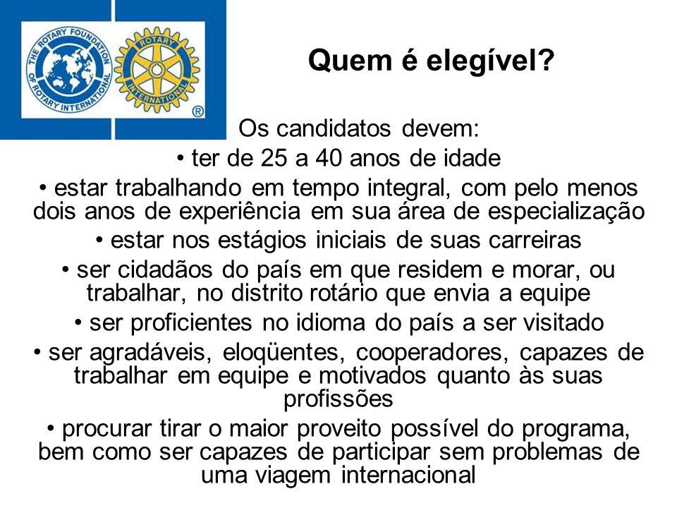 Quem é elegível? Os candidatos devem: ter de 25 a 40 anos de idade estar trabalhando em tempo integral, com pelo menos dois anos de experiência em sua