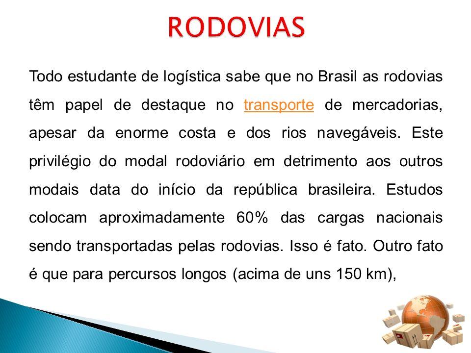 Todo estudante de logística sabe que no Brasil as rodovias têm papel de destaque no transporte de mercadorias, apesar da enorme costa e dos rios naveg