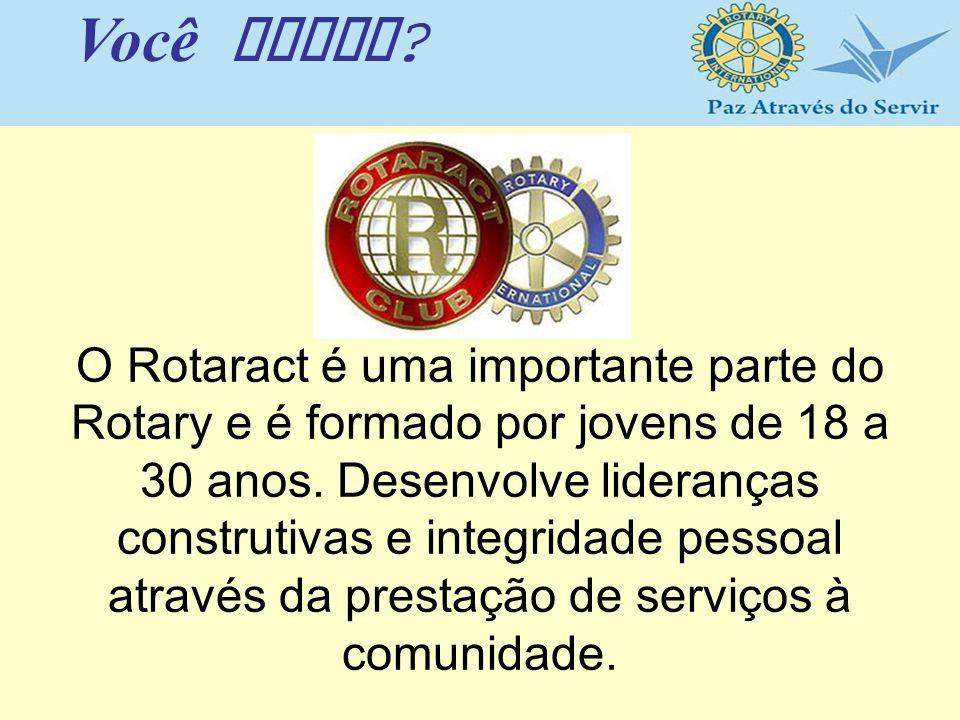 O Rotaract é uma importante parte do Rotary e é formado por jovens de 18 a 30 anos. Desenvolve lideranças construtivas e integridade pessoal através d