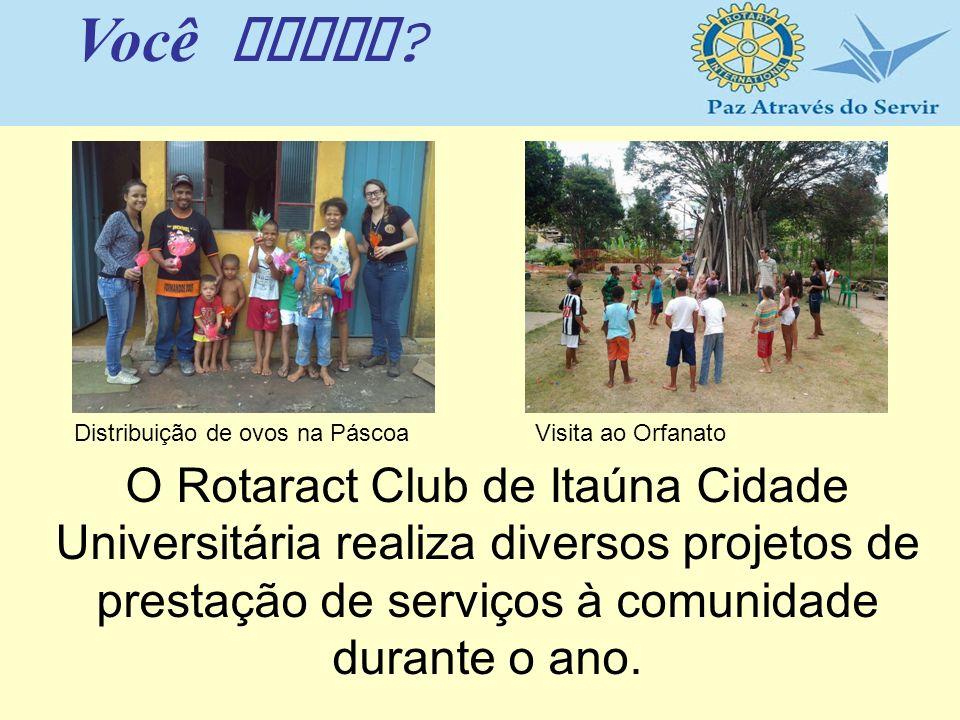 O Rotaract Club de Itaúna Cidade Universitária realiza diversos projetos de prestação de serviços à comunidade durante o ano. Você sabia ? Distribuiçã