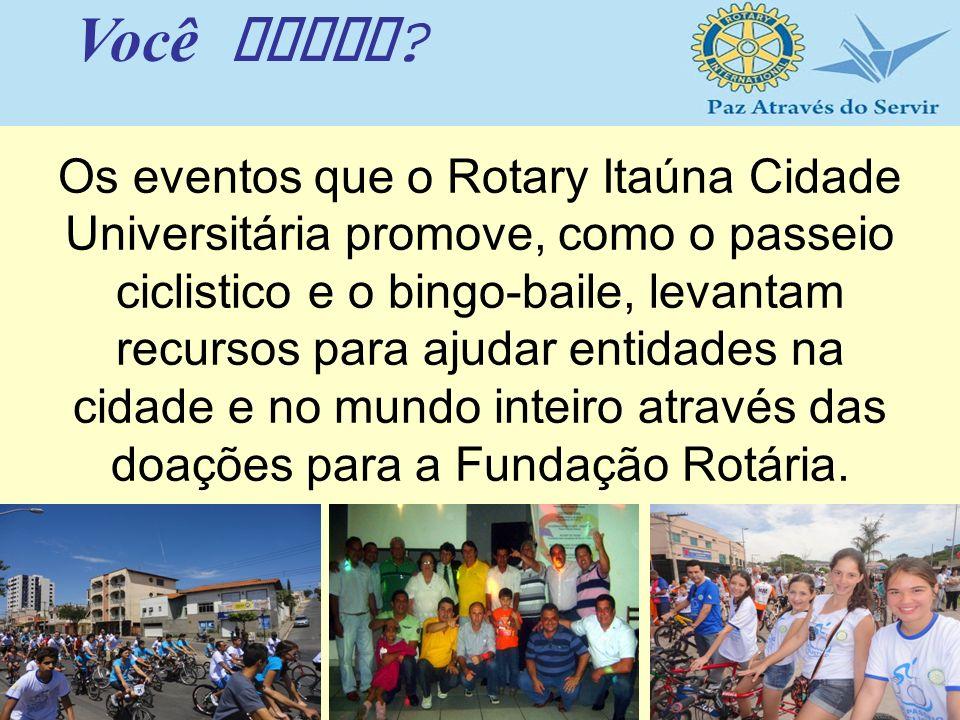Os eventos que o Rotary Itaúna Cidade Universitária promove, como o passeio ciclistico e o bingo-baile, levantam recursos para ajudar entidades na cid
