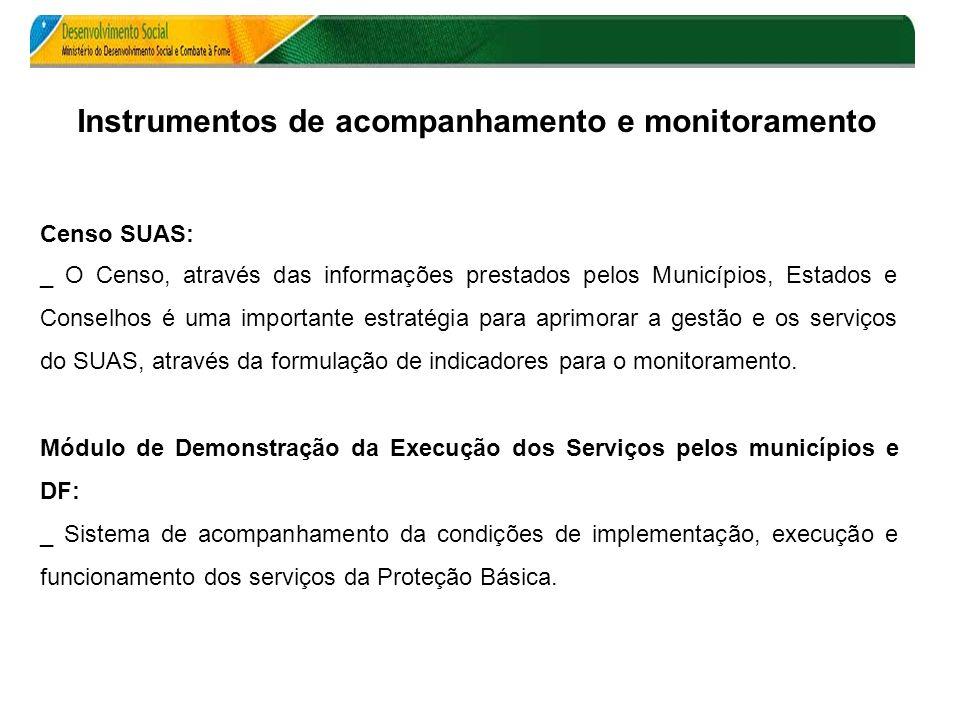 Censo SUAS: _ O Censo, através das informações prestados pelos Municípios, Estados e Conselhos é uma importante estratégia para aprimorar a gestão e o