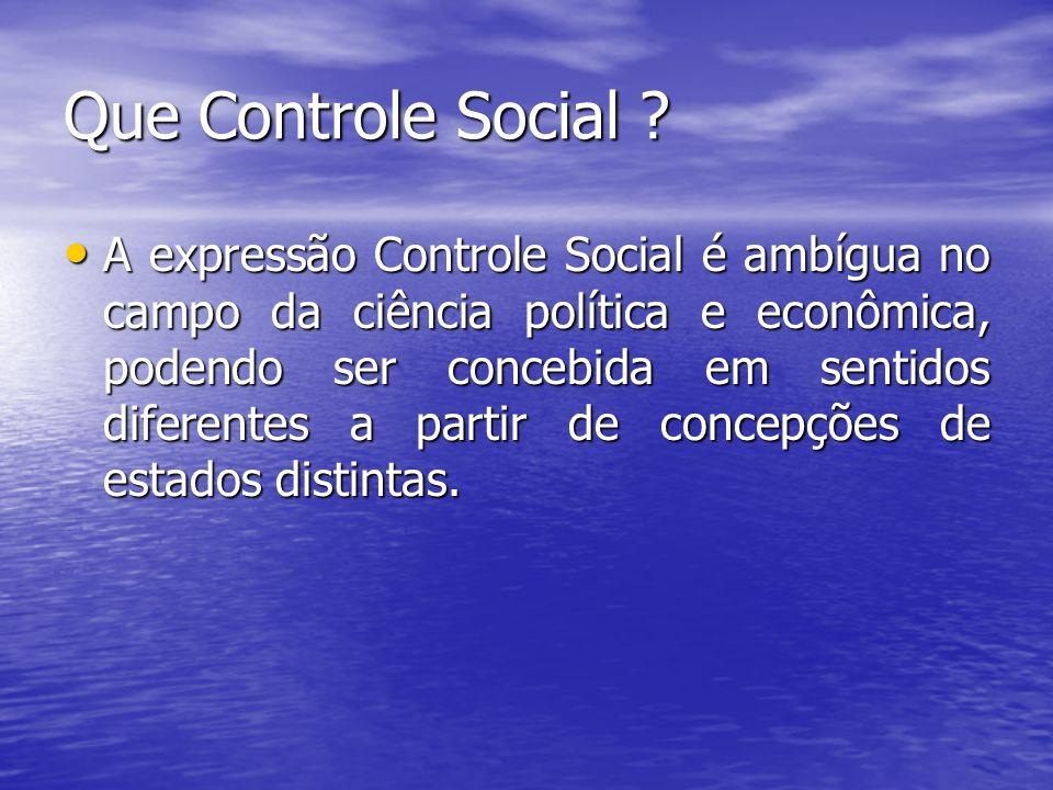 Que Controle Social .