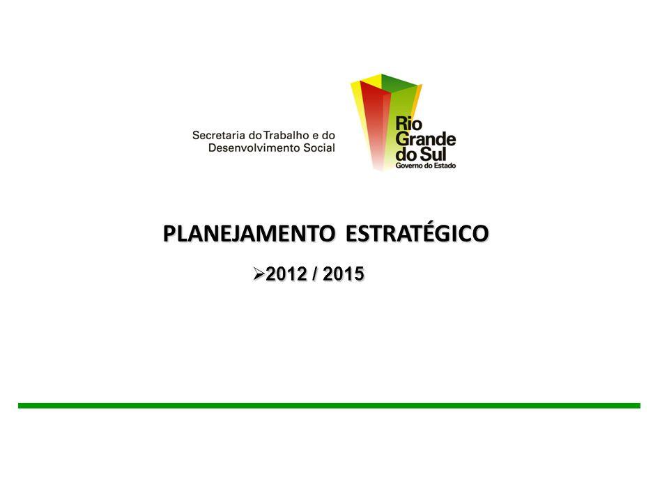 PLANEJAMENTO ESTRATÉGICO PLANEJAMENTO ESTRATÉGICO 2012 / 2015 2012 / 2015