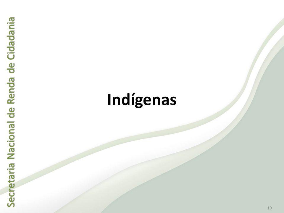 Secretaria Nacional de Renda de Cidadania Secretaria Nacional de Renda de Cidadania 19 Indígenas