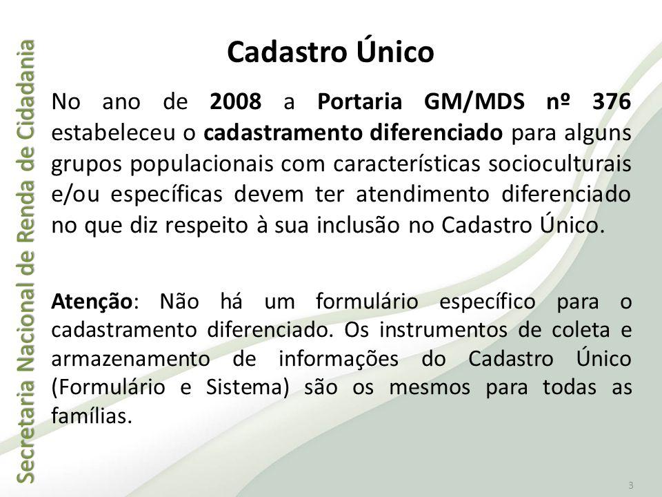 Secretaria Nacional de Renda de Cidadania Secretaria Nacional de Renda de Cidadania 3 No ano de 2008 a Portaria GM/MDS nº 376 estabeleceu o cadastrame