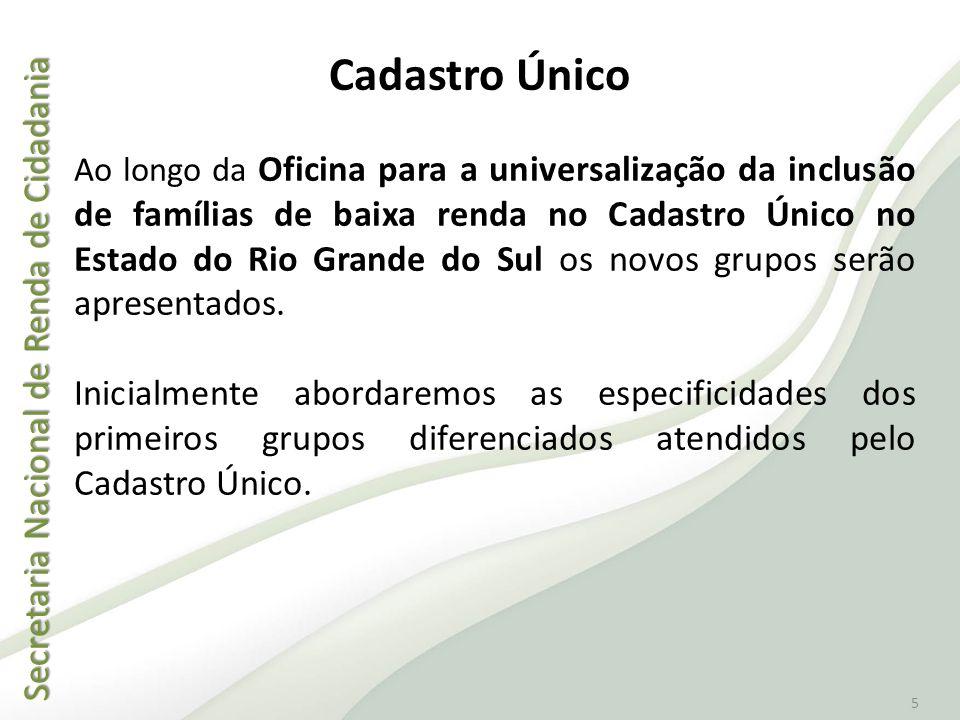 Secretaria Nacional de Renda de Cidadania Secretaria Nacional de Renda de Cidadania 5 Ao longo da Oficina para a universalização da inclusão de famíli