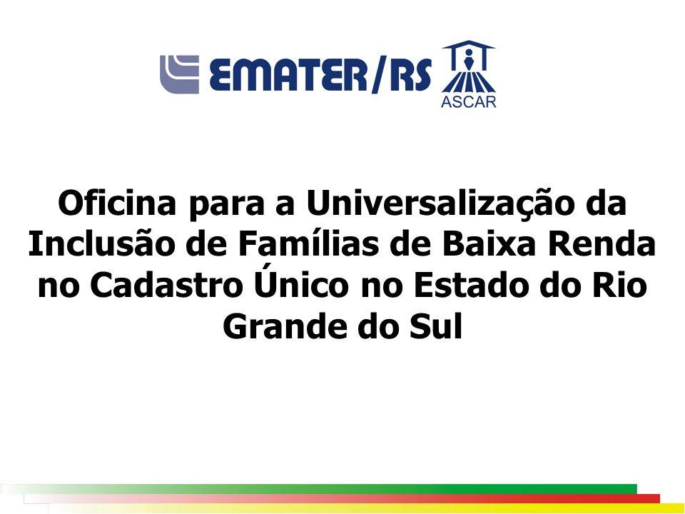 Oficina para a Universalização da Inclusão de Famílias de Baixa Renda no Cadastro Único no Estado do Rio Grande do Sul