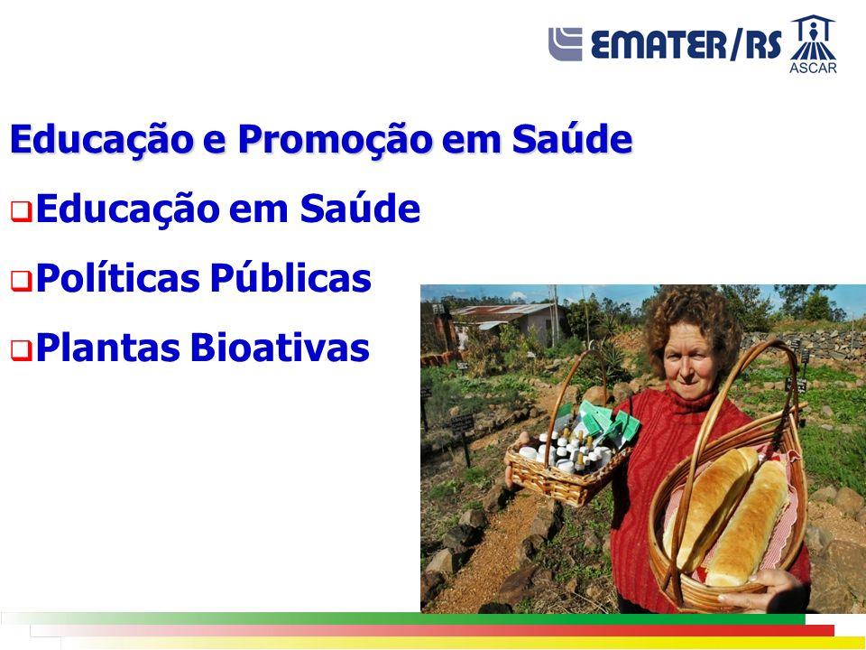 Educação e Promoção em Saúde Educação em Saúde Políticas Públicas Plantas Bioativas