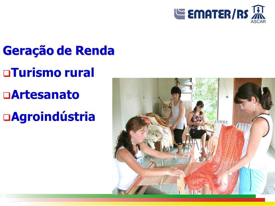 Geração de Renda Turismo rural Artesanato Agroindústria