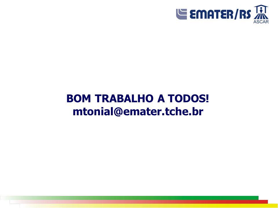 BOM TRABALHO A TODOS! mtonial@emater.tche.br