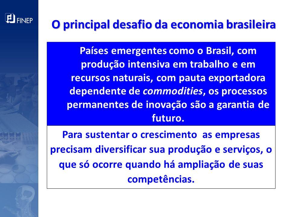 Países emergentes como o Brasil, com produção intensiva em trabalho e em recursos naturais, com pauta exportadora dependente de commodities, os proces