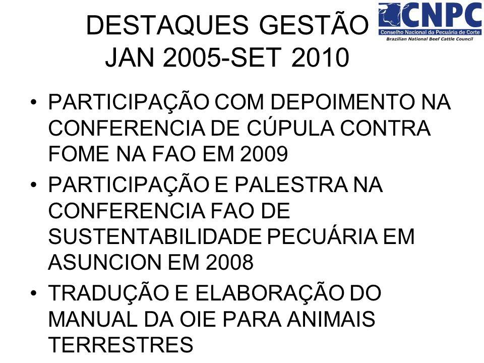 PARTICIPAÇÃO COM DEPOIMENTO NA CONFERENCIA DE CÚPULA CONTRA FOME NA FAO EM 2009 PARTICIPAÇÃO E PALESTRA NA CONFERENCIA FAO DE SUSTENTABILIDADE PECUÁRI