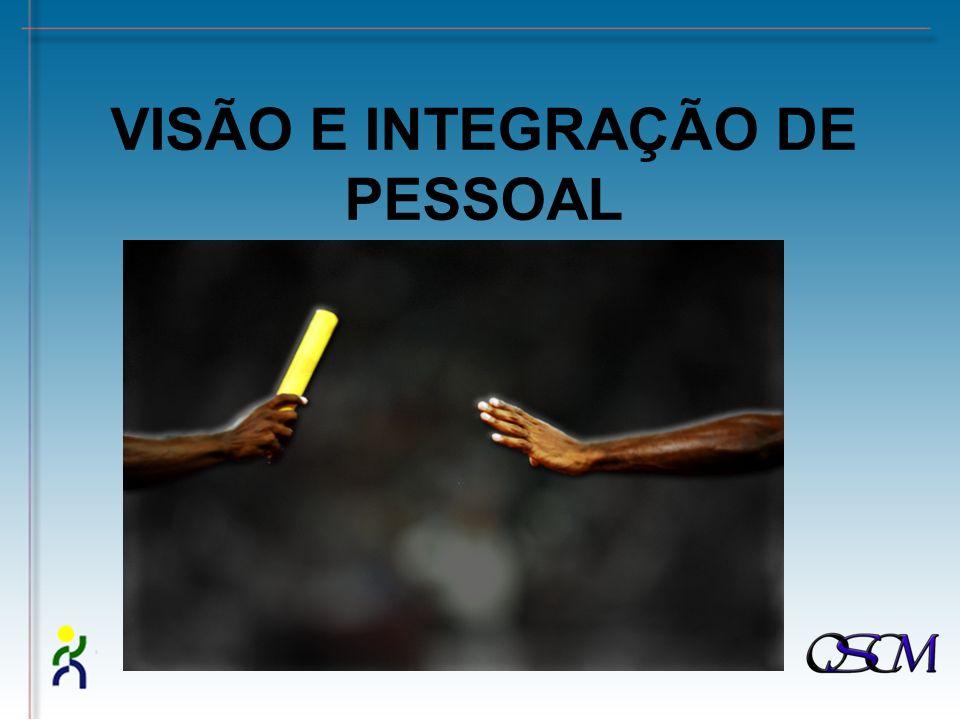 VISÃO E INTEGRAÇÃO DE PESSOAL