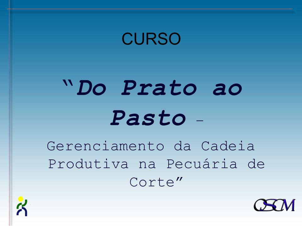 CURSO Do Prato ao Pasto – Gerenciamento da Cadeia Produtiva na Pecuária de Corte