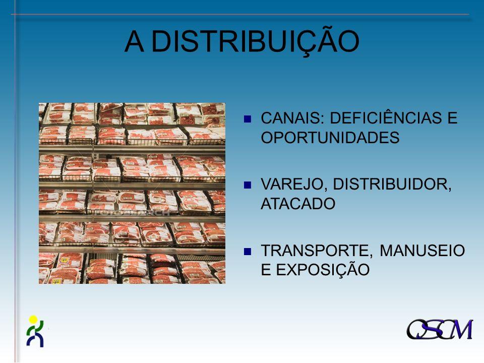 A DISTRIBUIÇÃO CANAIS: DEFICIÊNCIAS E OPORTUNIDADES VAREJO, DISTRIBUIDOR, ATACADO TRANSPORTE, MANUSEIO E EXPOSIÇÃO