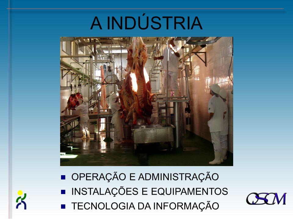 A INDÚSTRIA OPERAÇÃO E ADMINISTRAÇÃO INSTALAÇÕES E EQUIPAMENTOS TECNOLOGIA DA INFORMAÇÃO