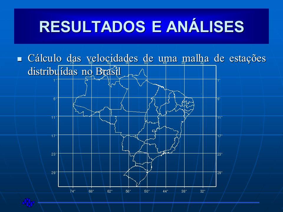 Cálculo das velocidades de uma malha de estações distribuídas no Brasil Cálculo das velocidades de uma malha de estações distribuídas no Brasil