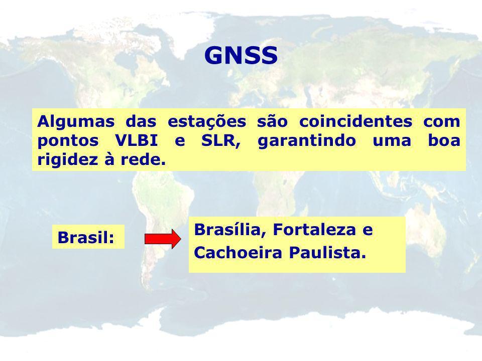 International GNSS Service Compreende mais de 384 estações e 339 estações ativas distribuídas em diversos países: