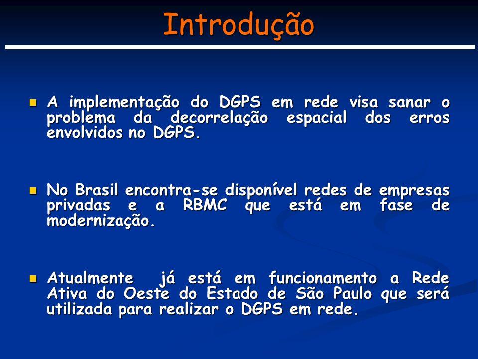 Objetivos O objetivo principal deste projeto é implementar e disponibilizar efetivamente à comunidade usuária e/ou científica do Estado de São Paulo, correções DGPS em rede via Internet em tempo real.
