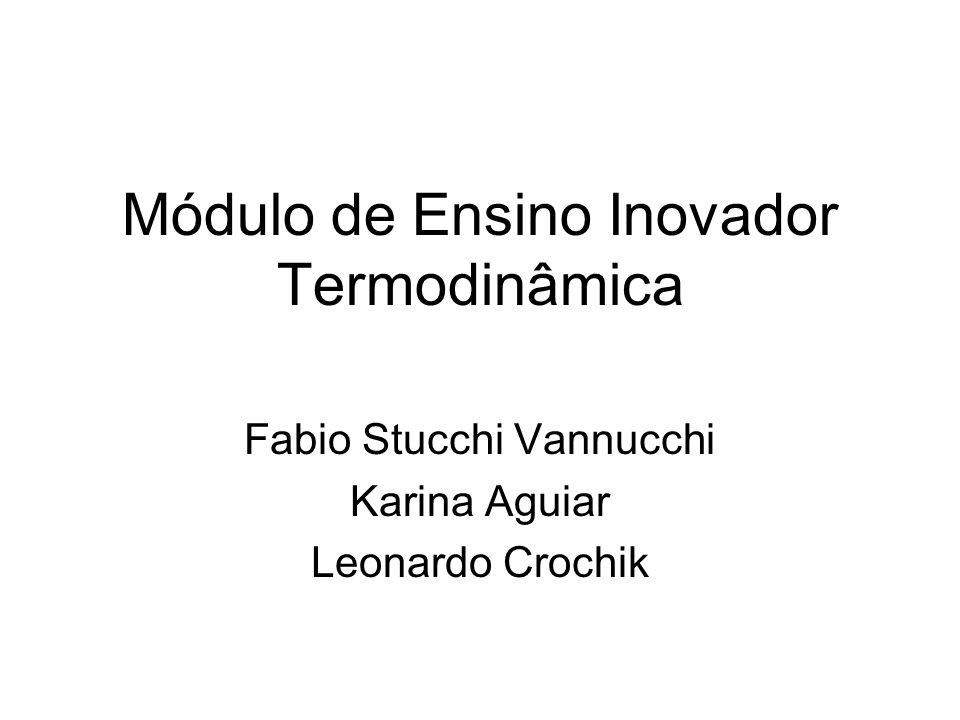 Módulo de Ensino Inovador Termodinâmica Fabio Stucchi Vannucchi Karina Aguiar Leonardo Crochik