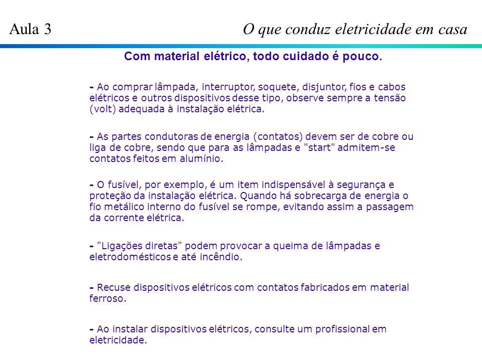 Aula 4 Dicas e Truques Fuga de Corrente Uma causa muito comum de aumento na conta de energia elétrica é a fuga de corrente .