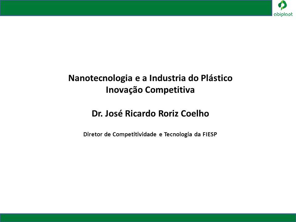 Nanotecnologia e a Industria do Plástico Inovação Competitiva Dr. José Ricardo Roriz Coelho Diretor de Competitividade e Tecnologia da FIESP