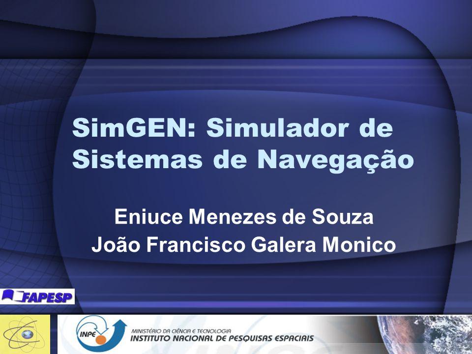 Tópicos Principais Características do SinGEM Mostrar o software Criação de Cenários