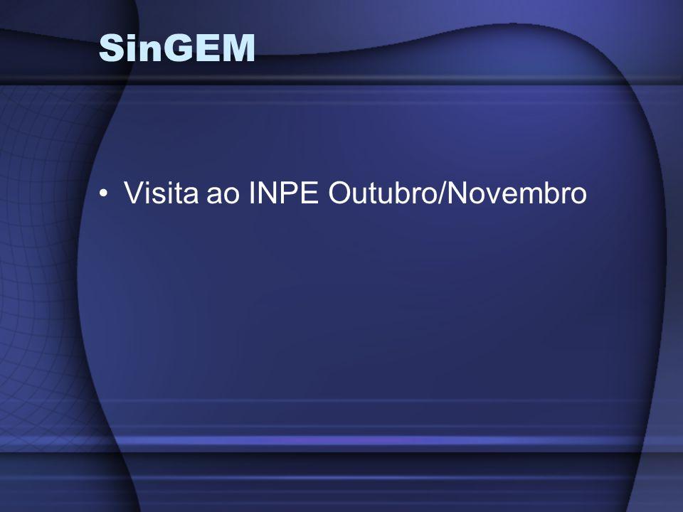 Visita ao INPE Outubro/Novembro SinGEM