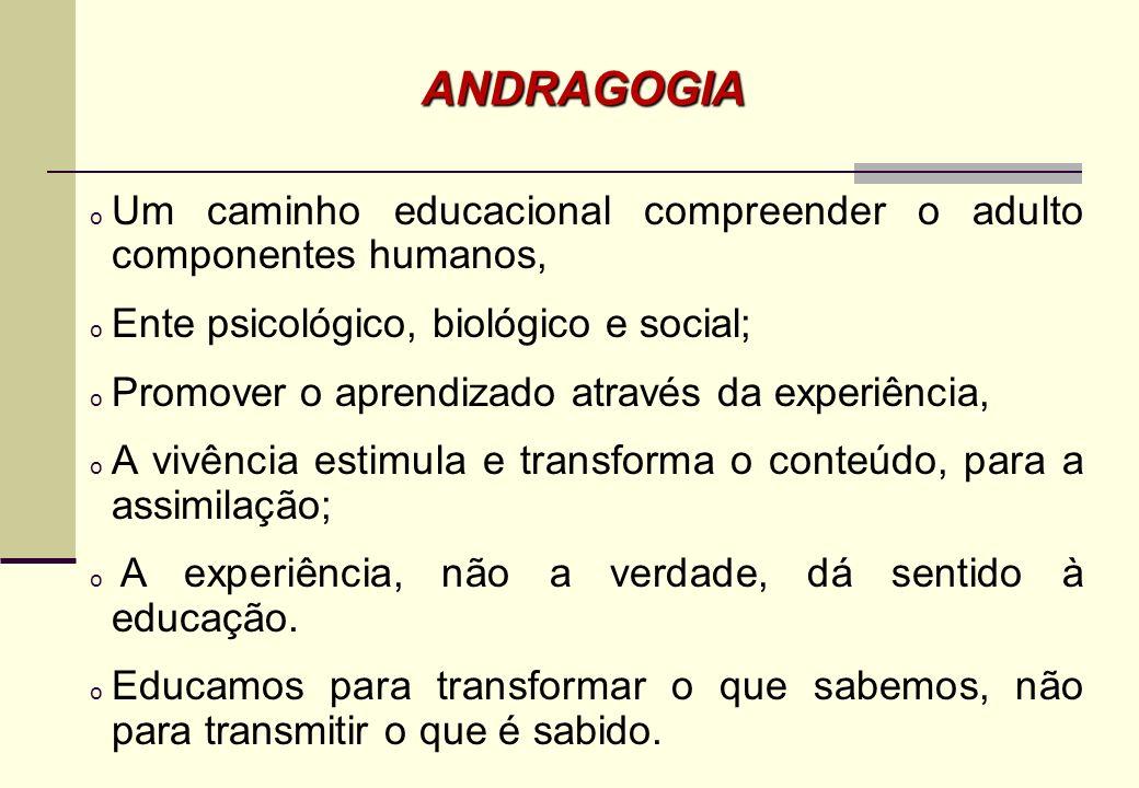 Conceito andragogia na educação de adultos anos 60. Alemão Alexandre Kapps primeira vez em 1833 (Rachal, 2002), Eduard C. Lindeman (1885-1953) – 1926