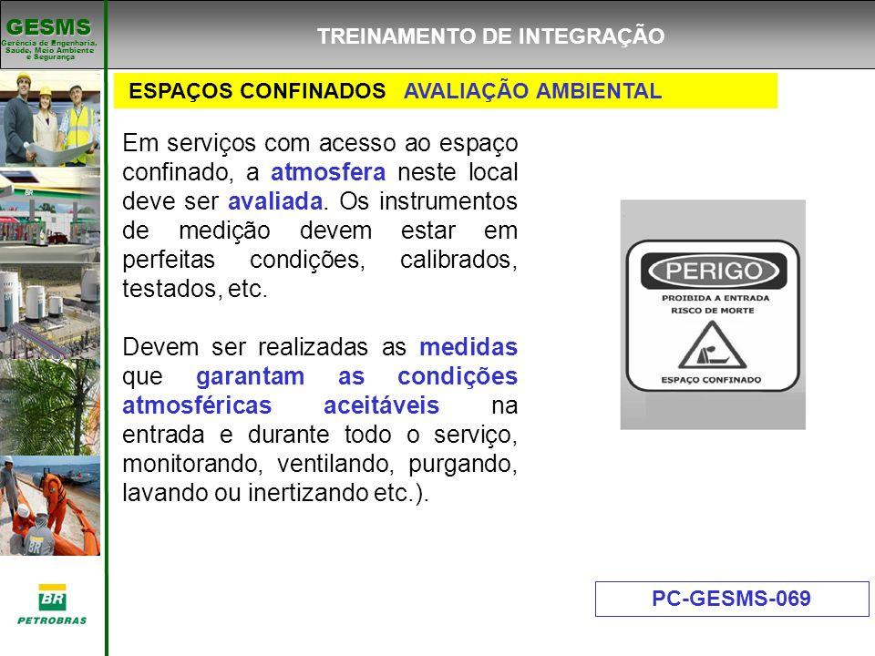 Gerência de Engenharia, Gerência de Engenharia, Saúde, Meio Ambiente e Segurança e Segurança GESMS ESPAÇOS CONFINADOS AVALIAÇÃO AMBIENTAL PC-GESMS-069