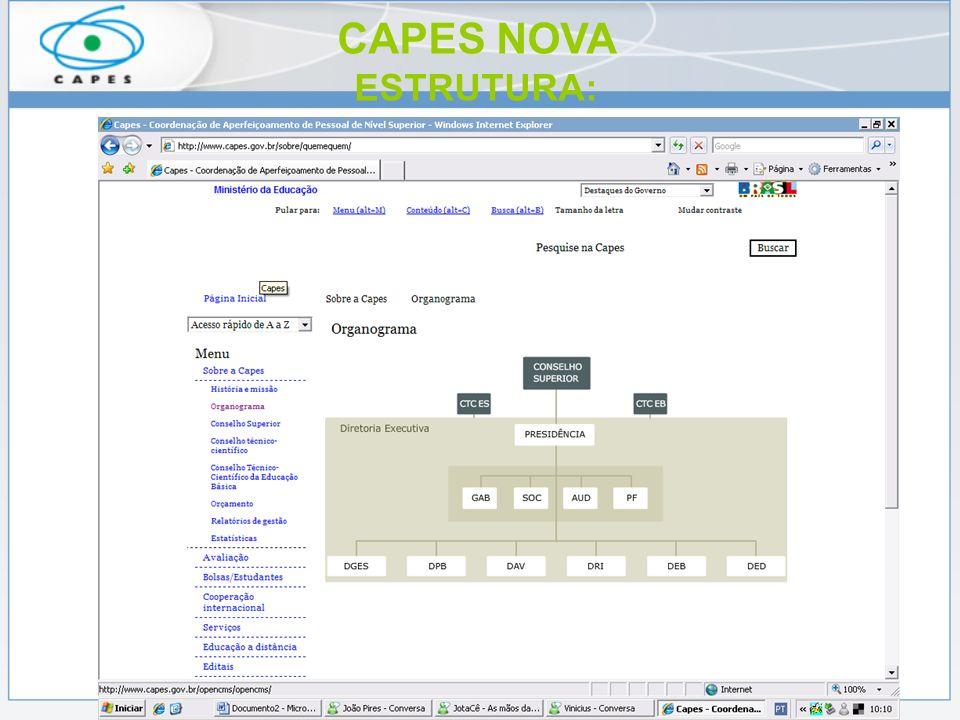 CAPES NOVA ESTRUTURA: