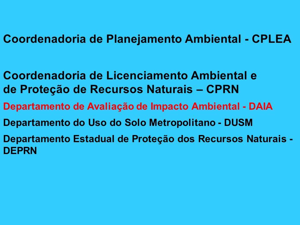 Procedimentos para licenciamento com Avaliação de Impacto Ambiental (Resolução SMA 42/94) 1.