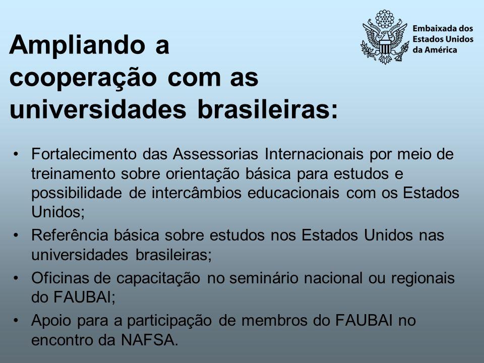 Ampliando a cooperação com as universidades brasileiras: Fortalecimento das Assessorias Internacionais por meio de treinamento sobre orientação básica