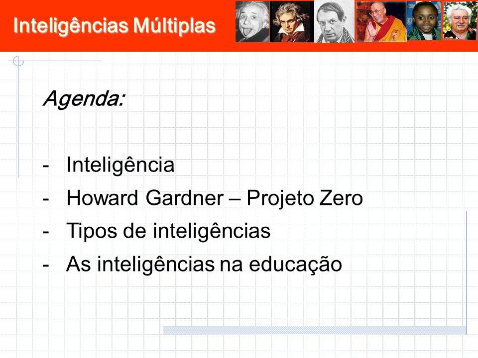 Inteligências Múltiplas Inteligência Antes século XIX -> patologia clinicaSociologia e psicologiaClassificação dos indivíduos (QI) - Binet