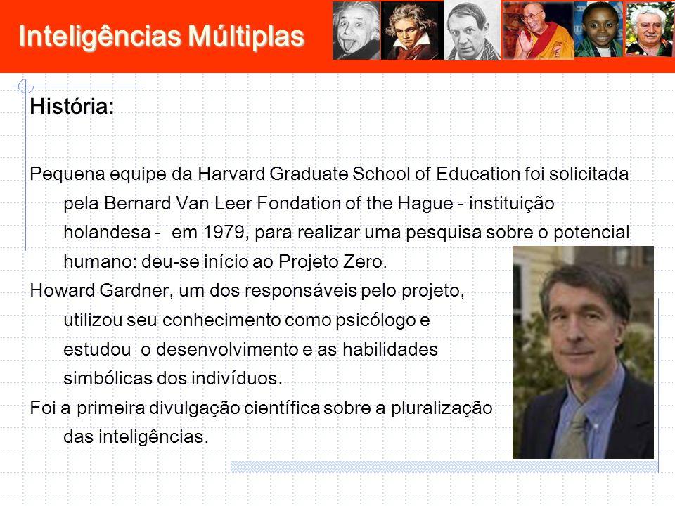 Inteligências Múltiplas História: Pequena equipe da Harvard Graduate School of Education foi solicitada pela Bernard Van Leer Fondation of the Hague -